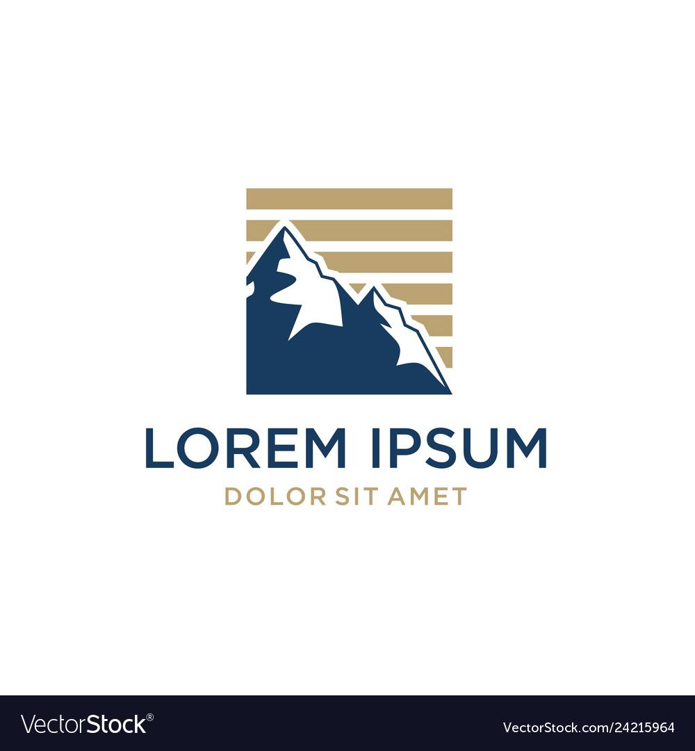 Mountain logo icon