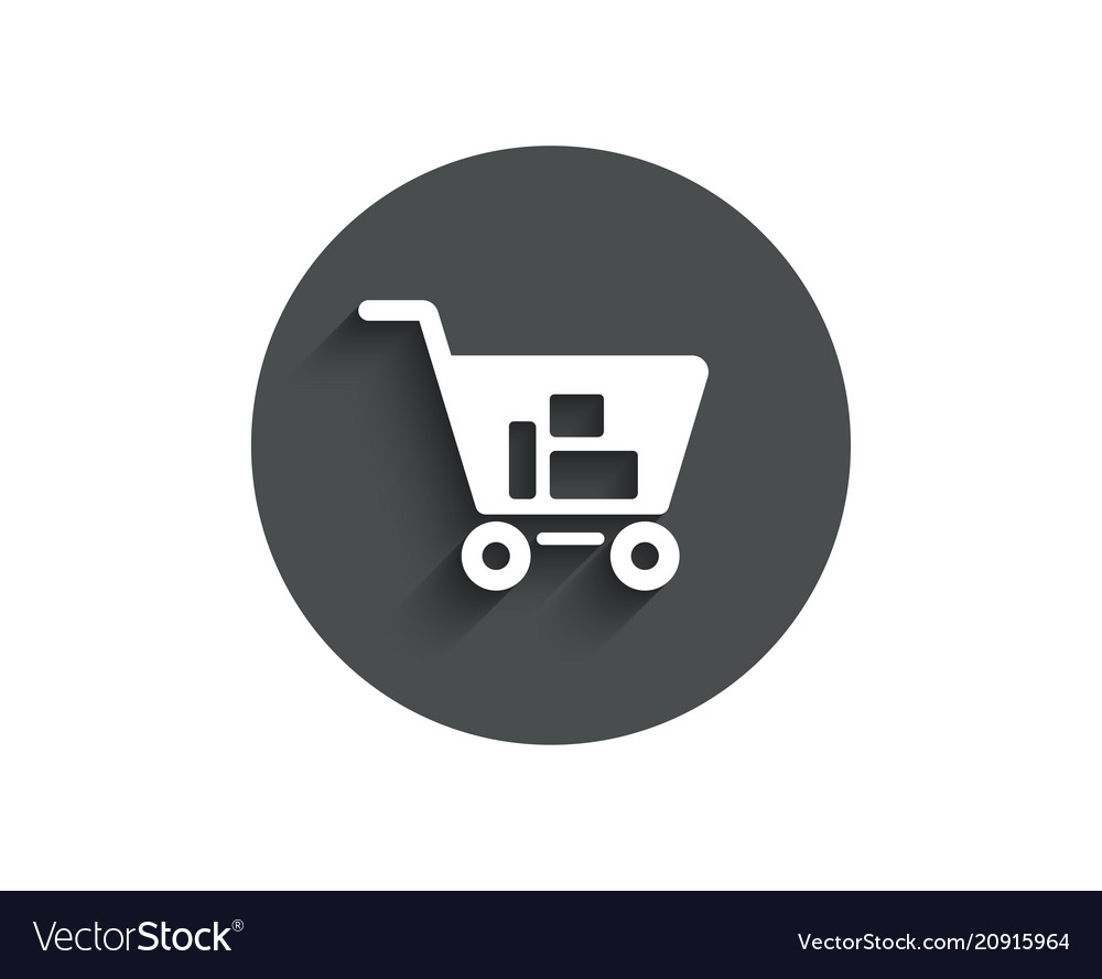 Shopping cart simple icon online buying sign