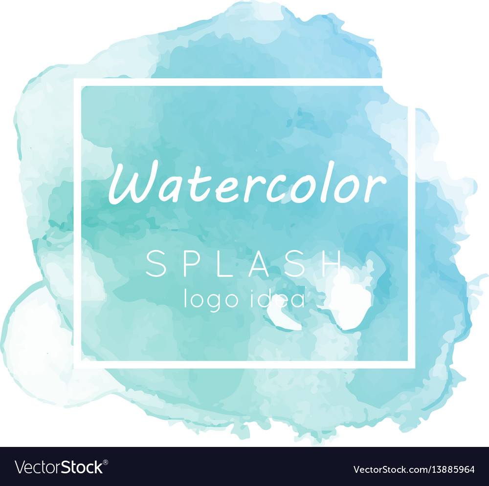 Watercolor splash logo idea