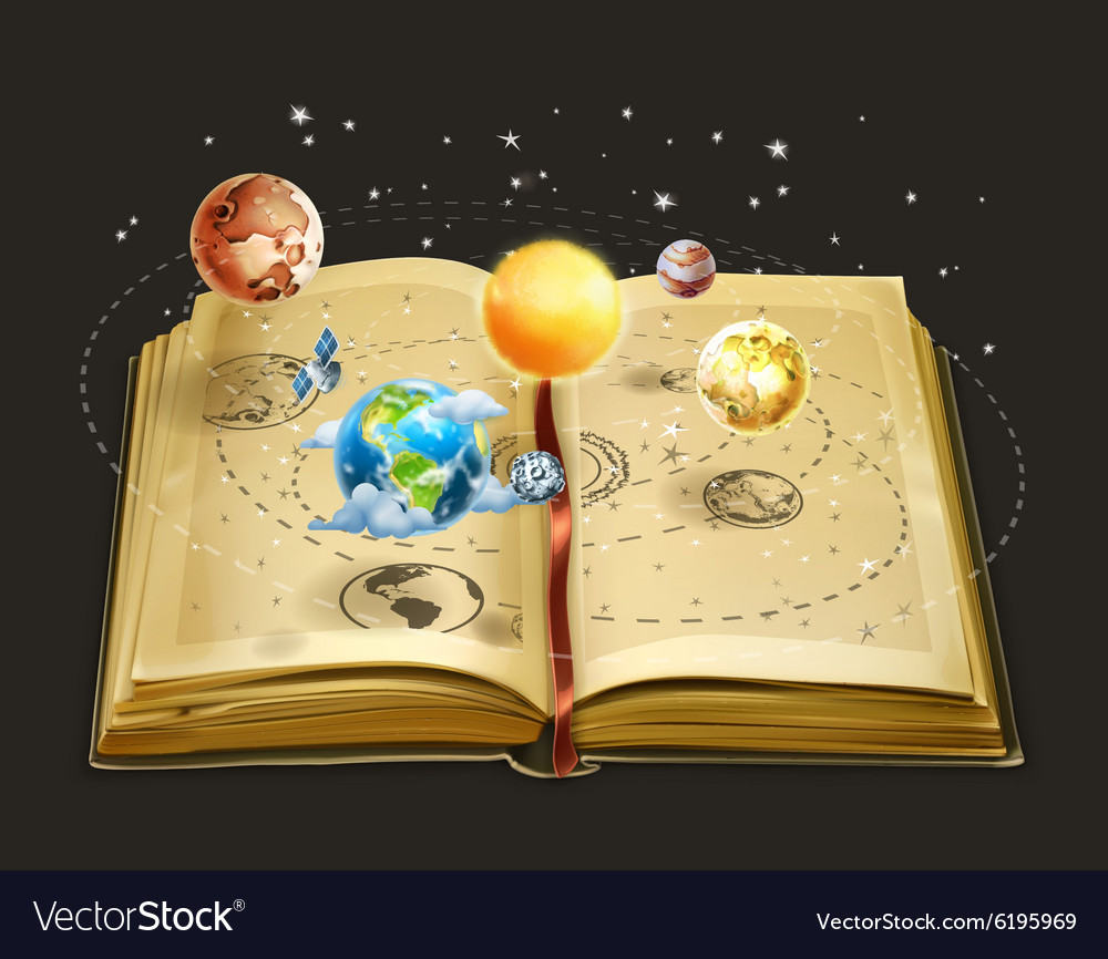 Book on astronomy icon
