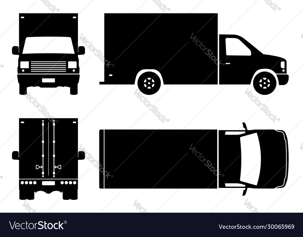 Delivery truck black icons