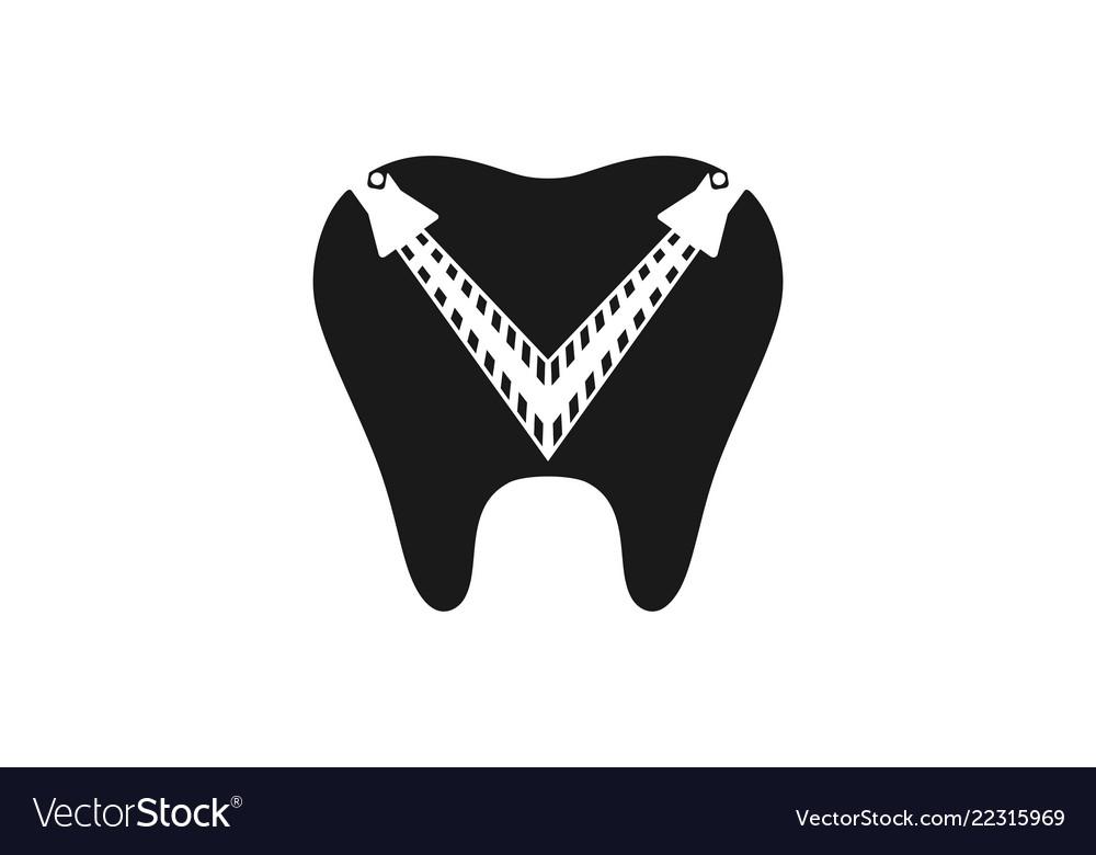 Dental logo designs inspiration isolated on white