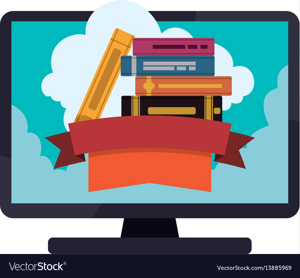 E-books books purchase and download vector image