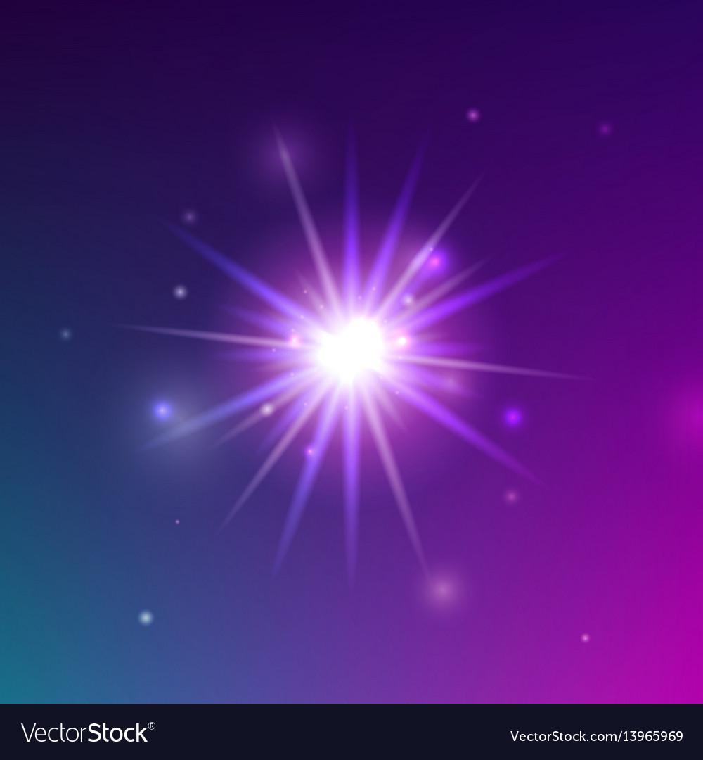 Glowing light shine