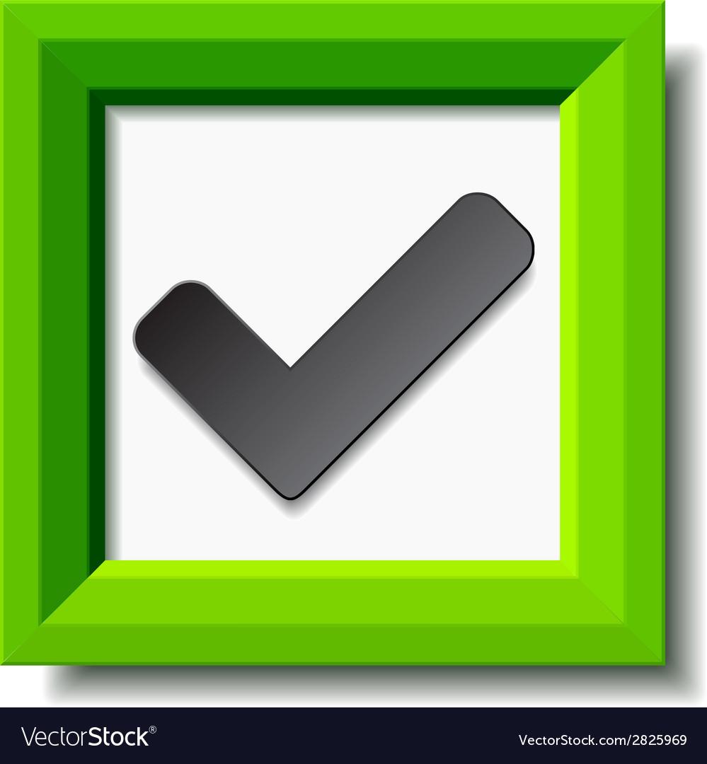 Green positive checkmark