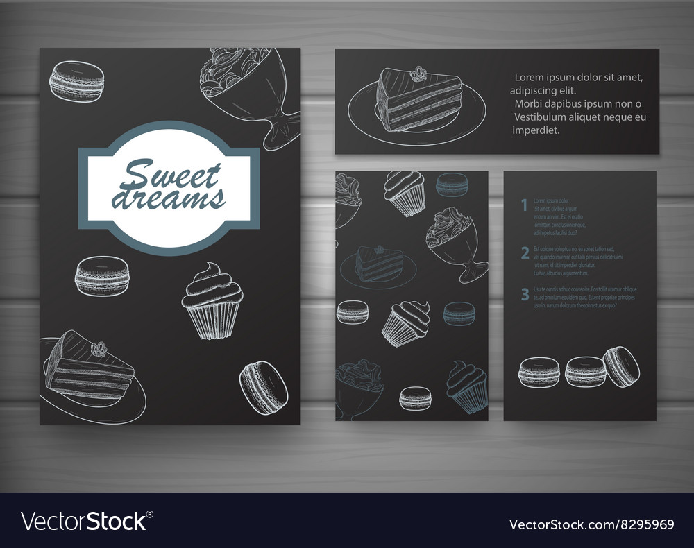 Handdrawn menu for cafe coffee house