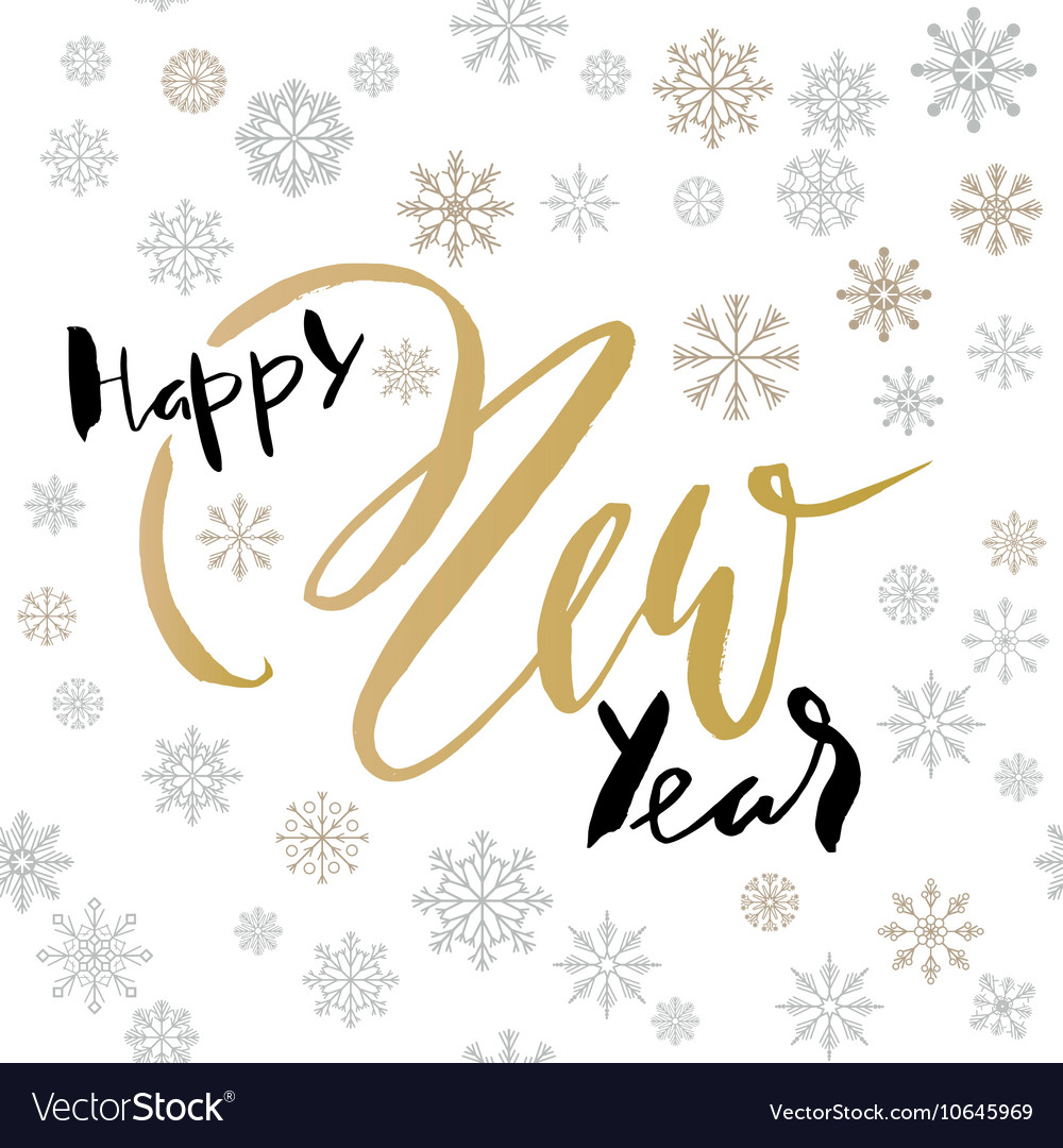 Happy New Year Lettering Design 100