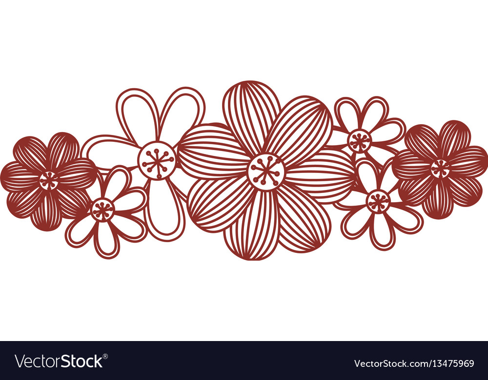 Minimalistic background with floral design vector image