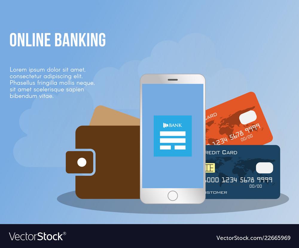 Online banking concept design template