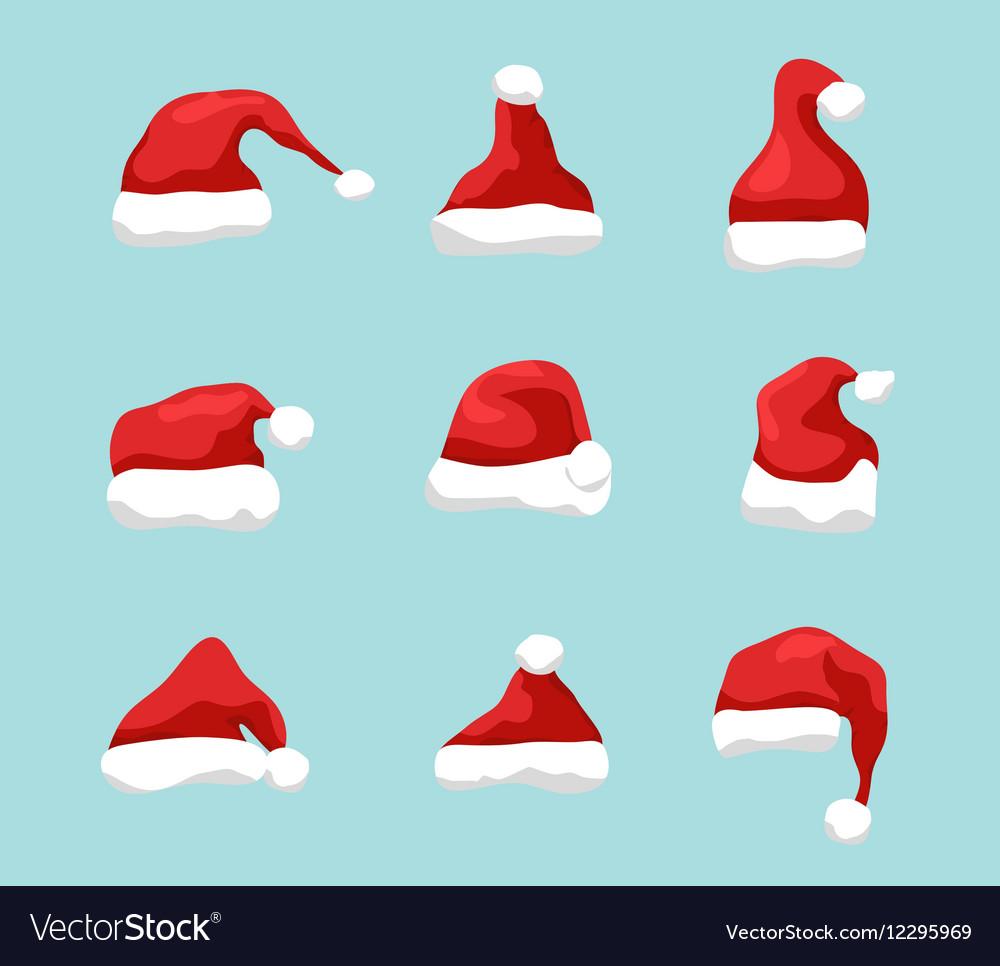 Santa hat symbol Holiday red hat santa claus
