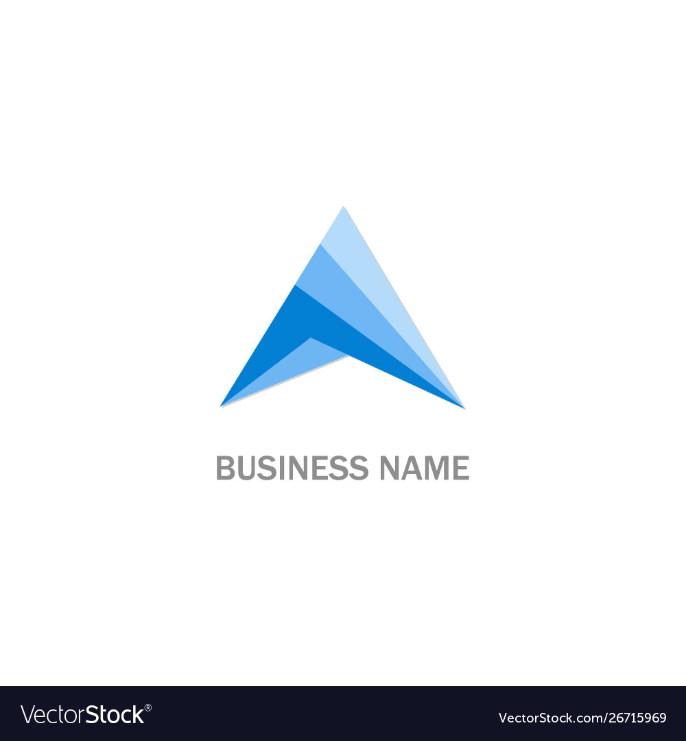 Triangle shape colored business logo