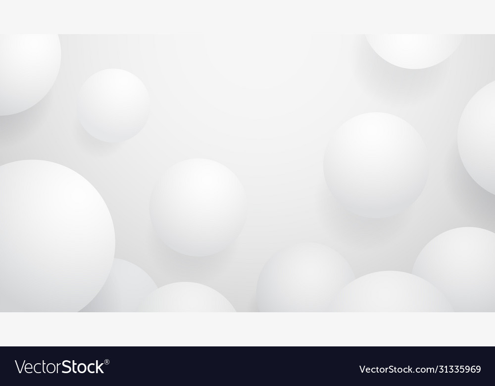 White ball abstract background
