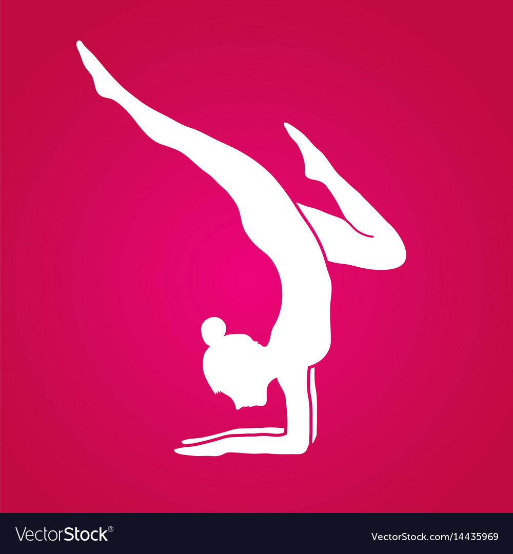 Woman yoga action sport woman pose