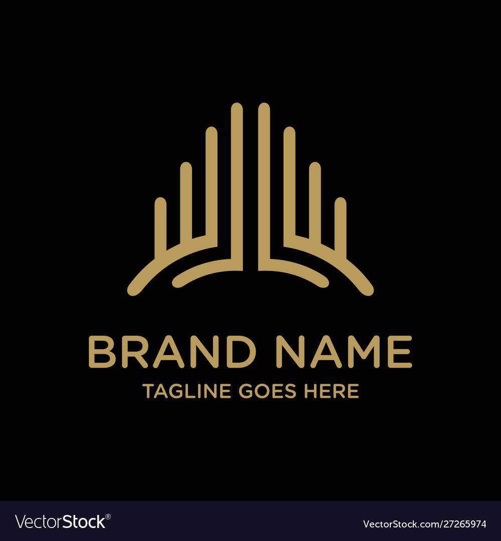 Building logo design outline