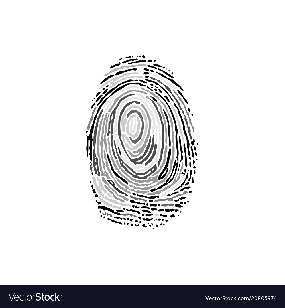 Fingerprint grayscale silhouette
