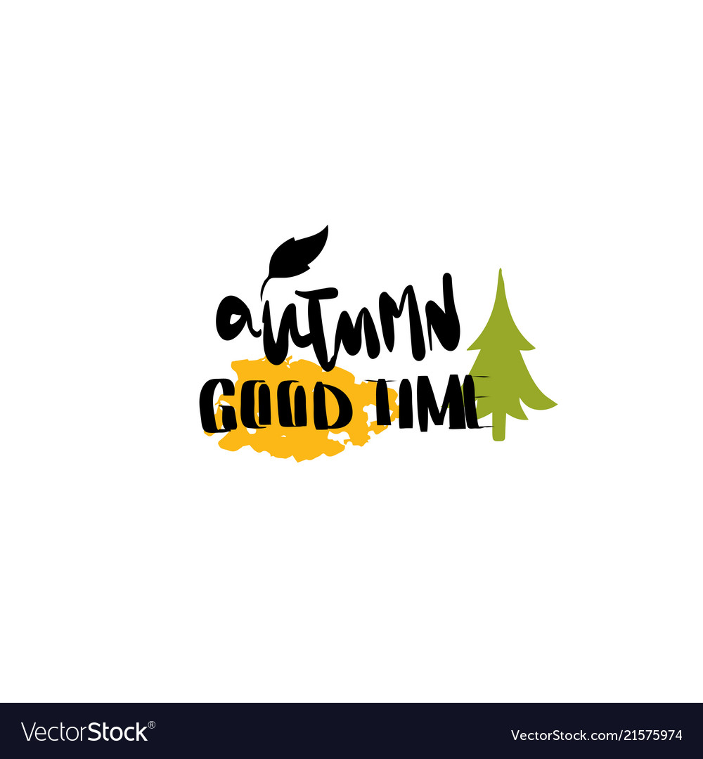 Good time autumn badge isolated design label