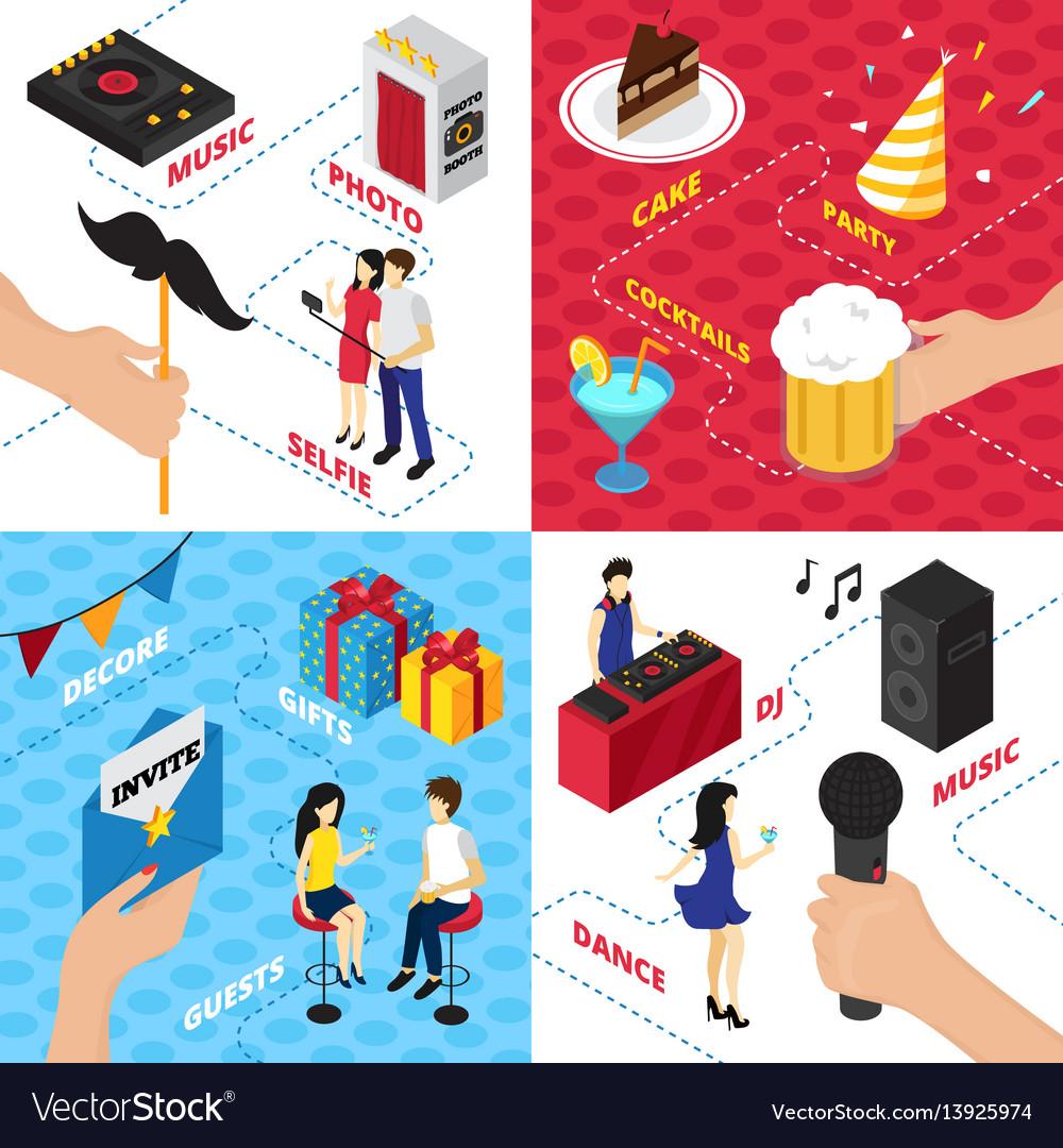 Party elements design concept