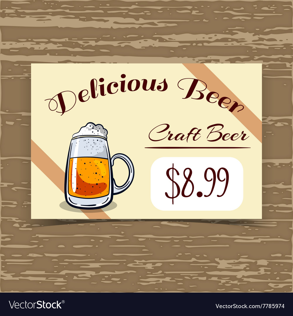 Price Tag Design Craft Beer