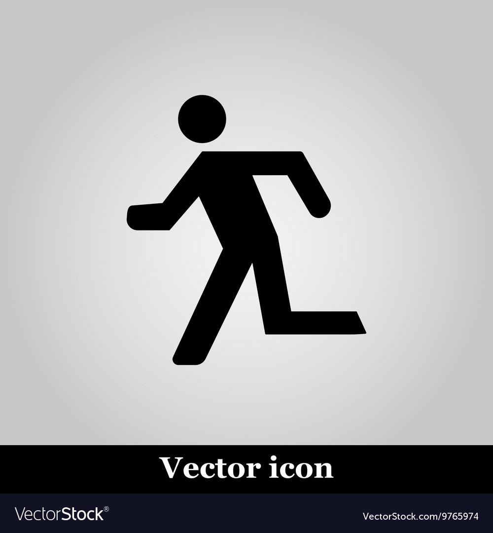 Running man icon on grey background
