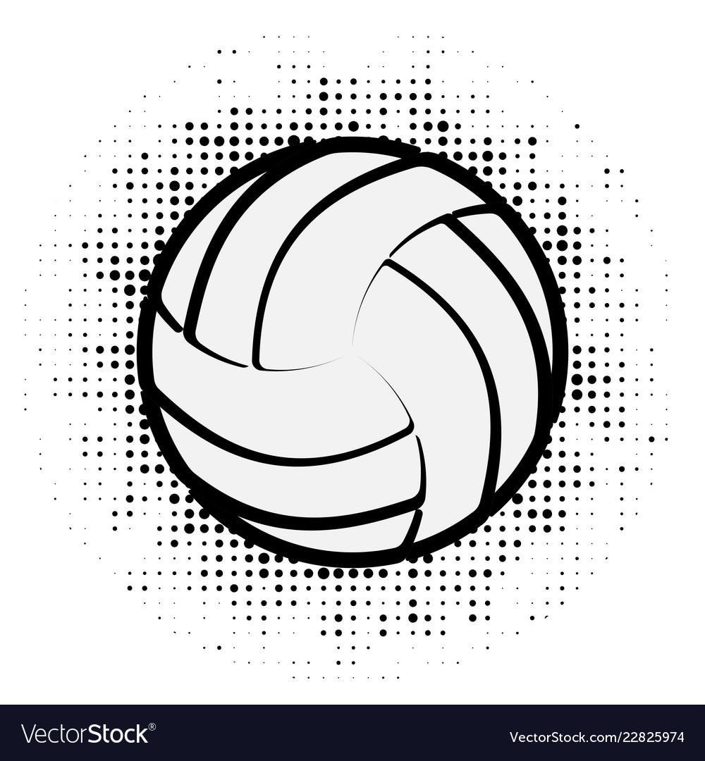Volleyball black outline