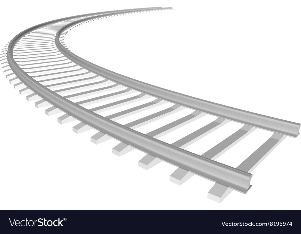 white sleepers and rails royalty free vector image