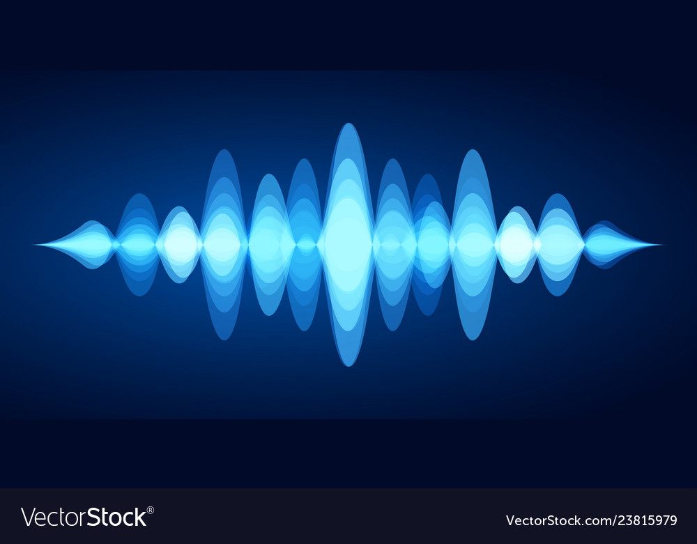 Abstract sound wave blue voice sounds waveform