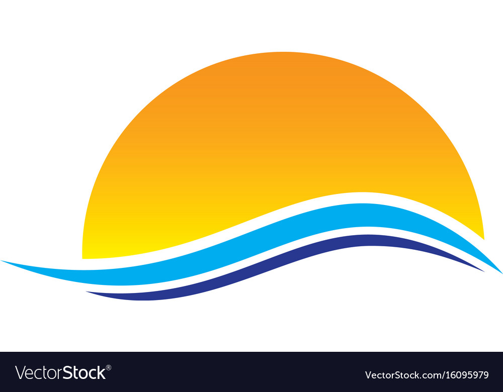 Abstract sunset wave logo