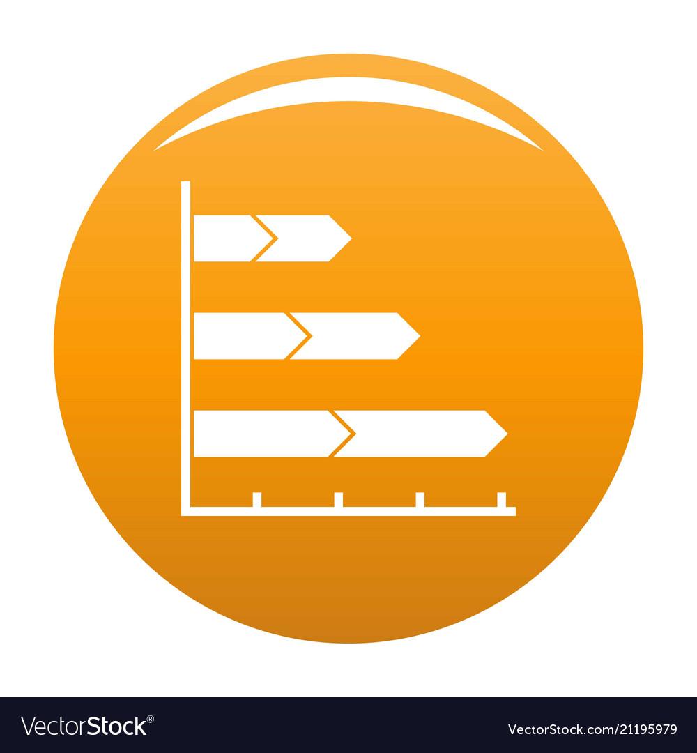 Best graph icon orange
