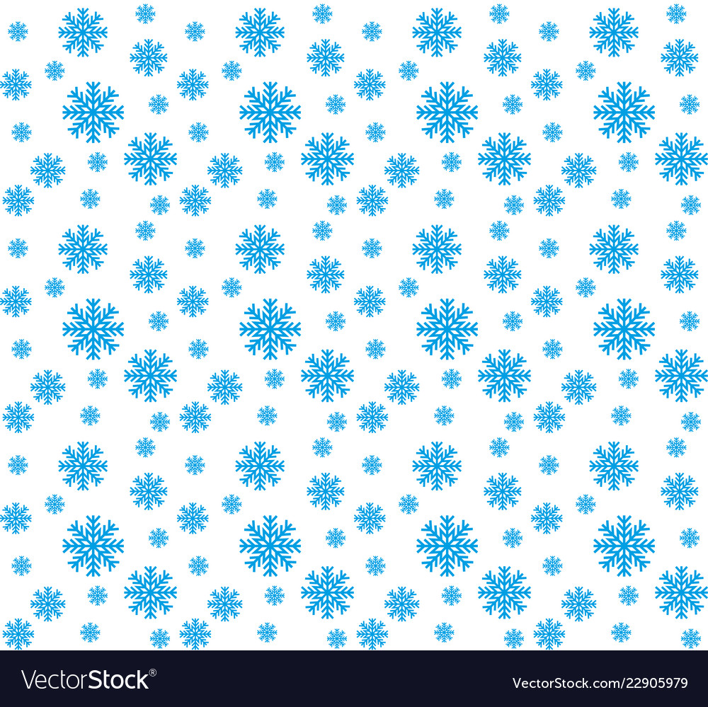 Blue snowflakes seamless pattern and