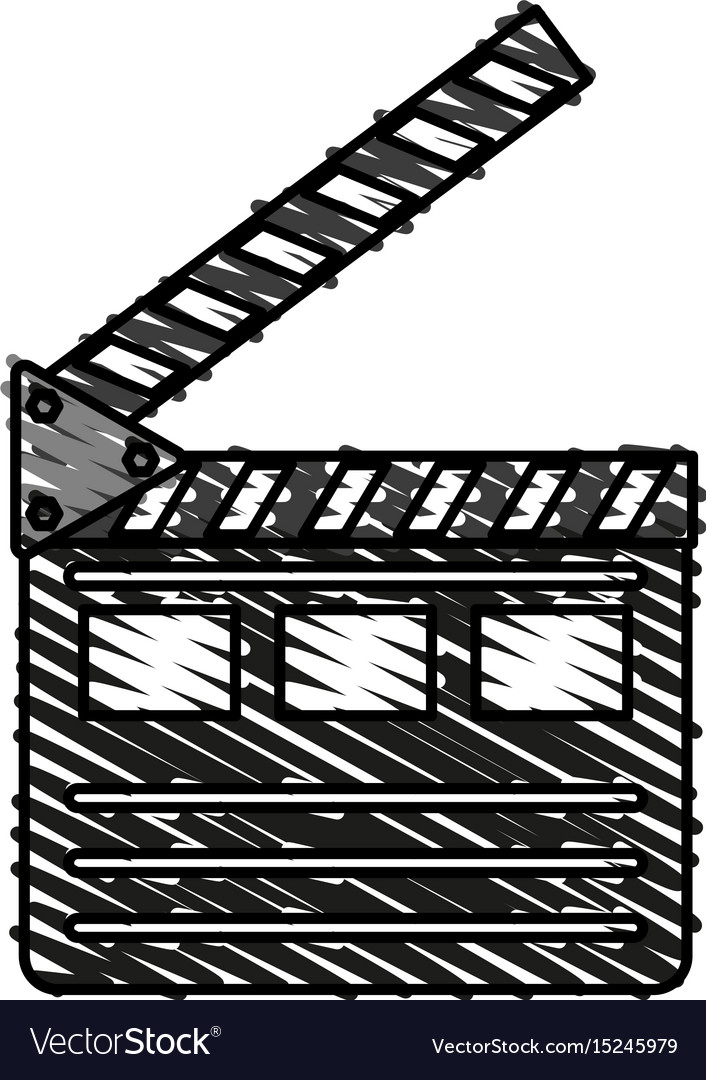 Clapperboard icon image vector image