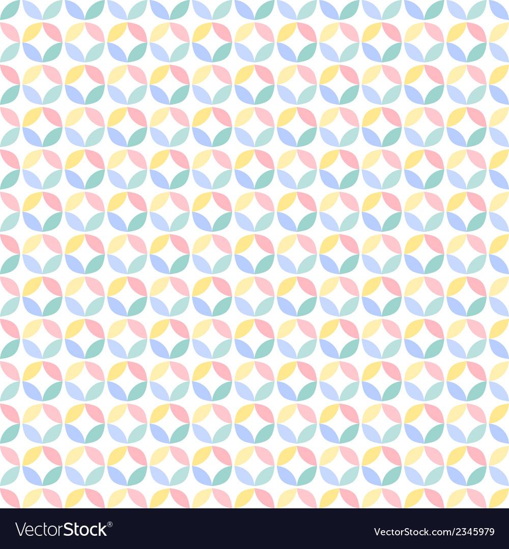 Colorful many geometric circle seamless pattern