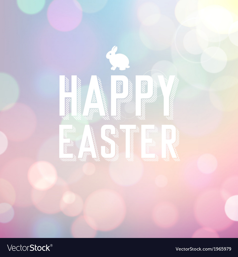 Easter colorful bokeh background
