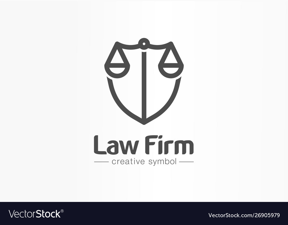 Law firm creative symbol concept lawyer office