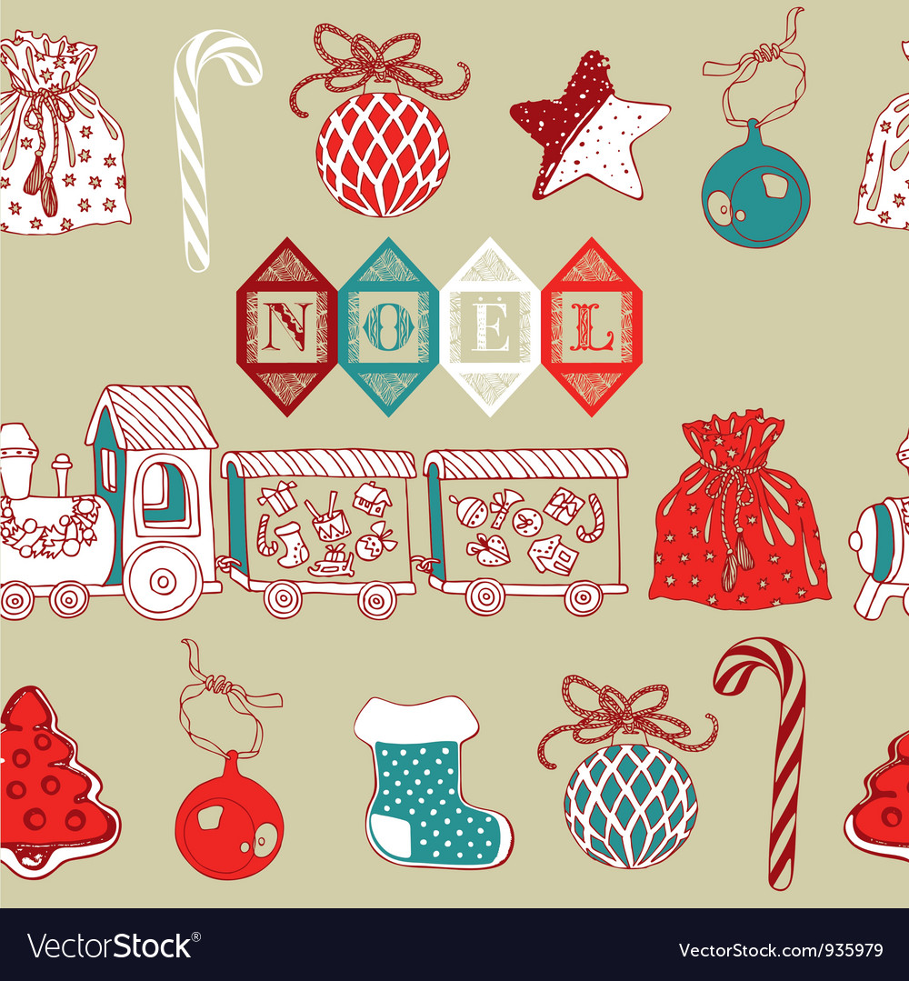 foto de Vintage Christmas Noel Background Royalty Free Vector Image