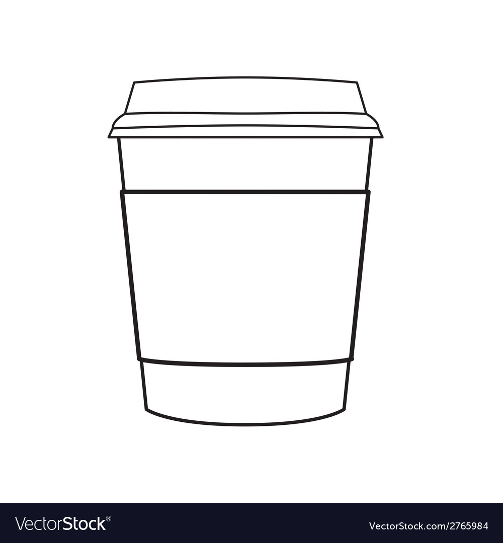 Coffee cup outline