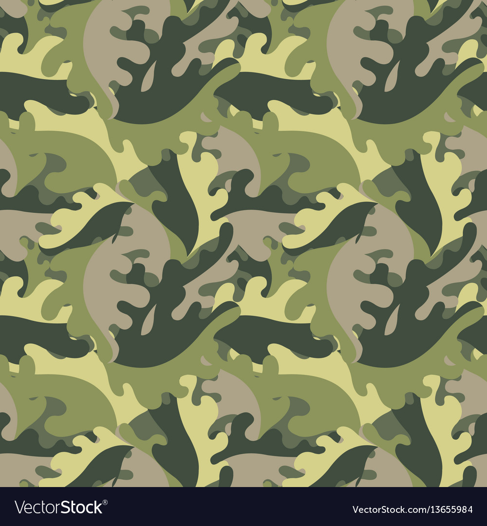Decorative leaves against a military style