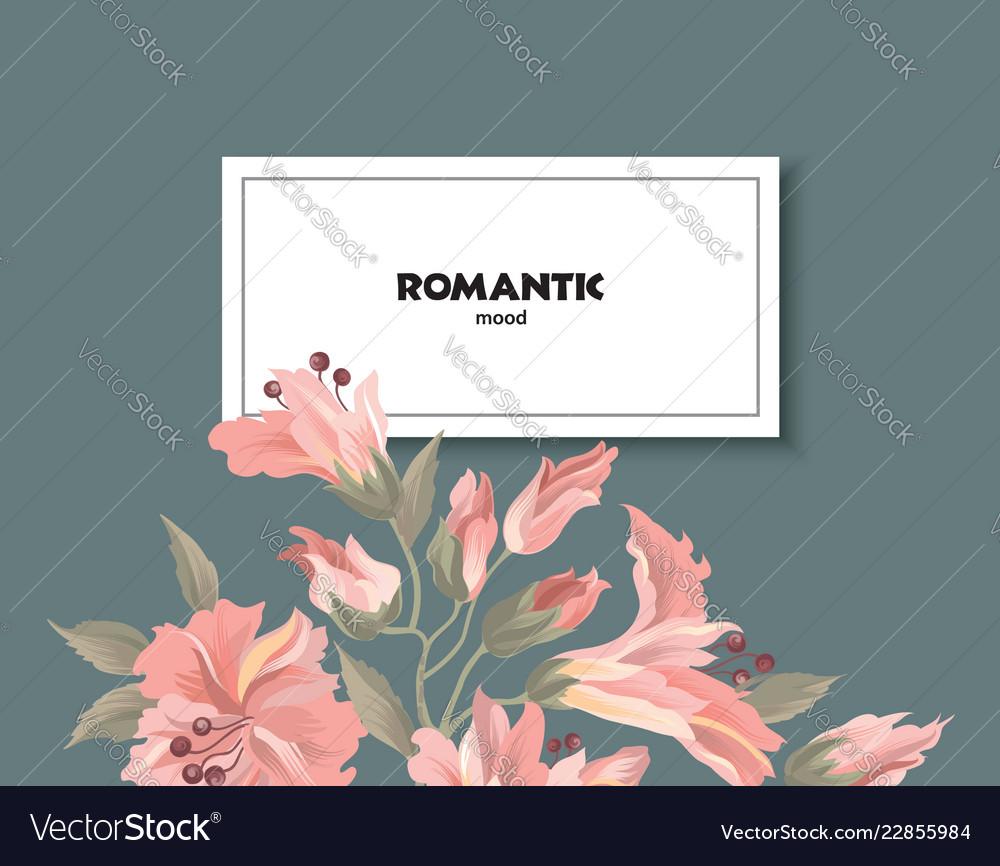 Floral pattern flower card background flourish
