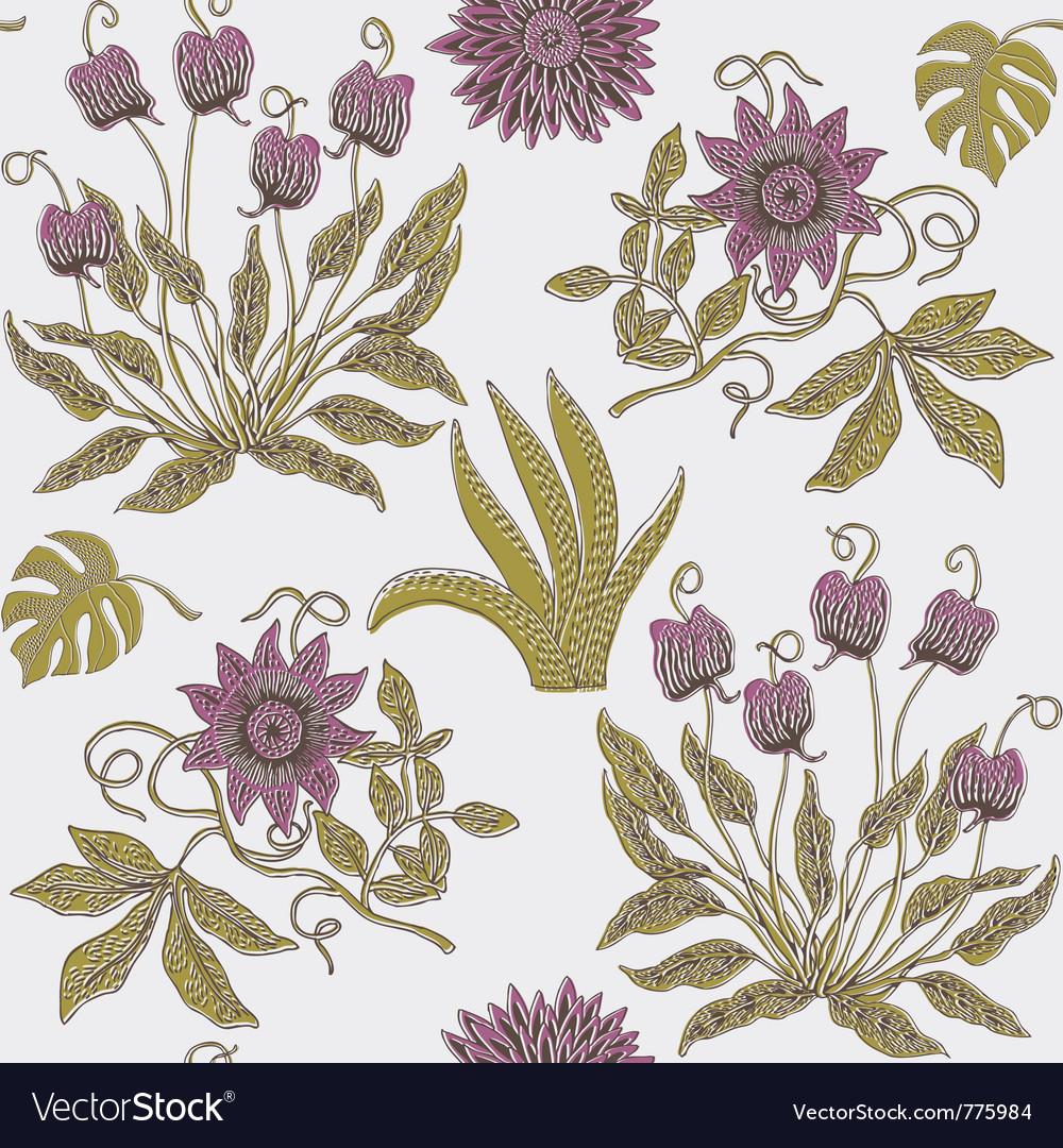Garden Floral Print Royalty Free Vector Image Vectorstock