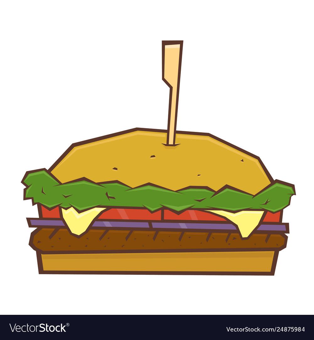Hamburger cheeseburger fast food