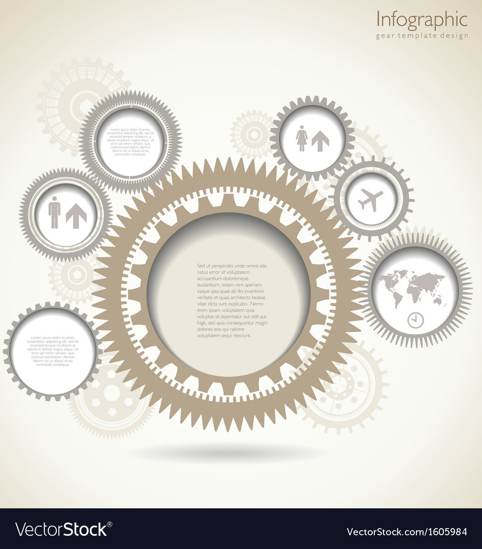 infographic gear template design royalty free vector image