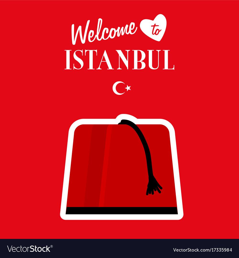 Istambul turkey icon design in red color