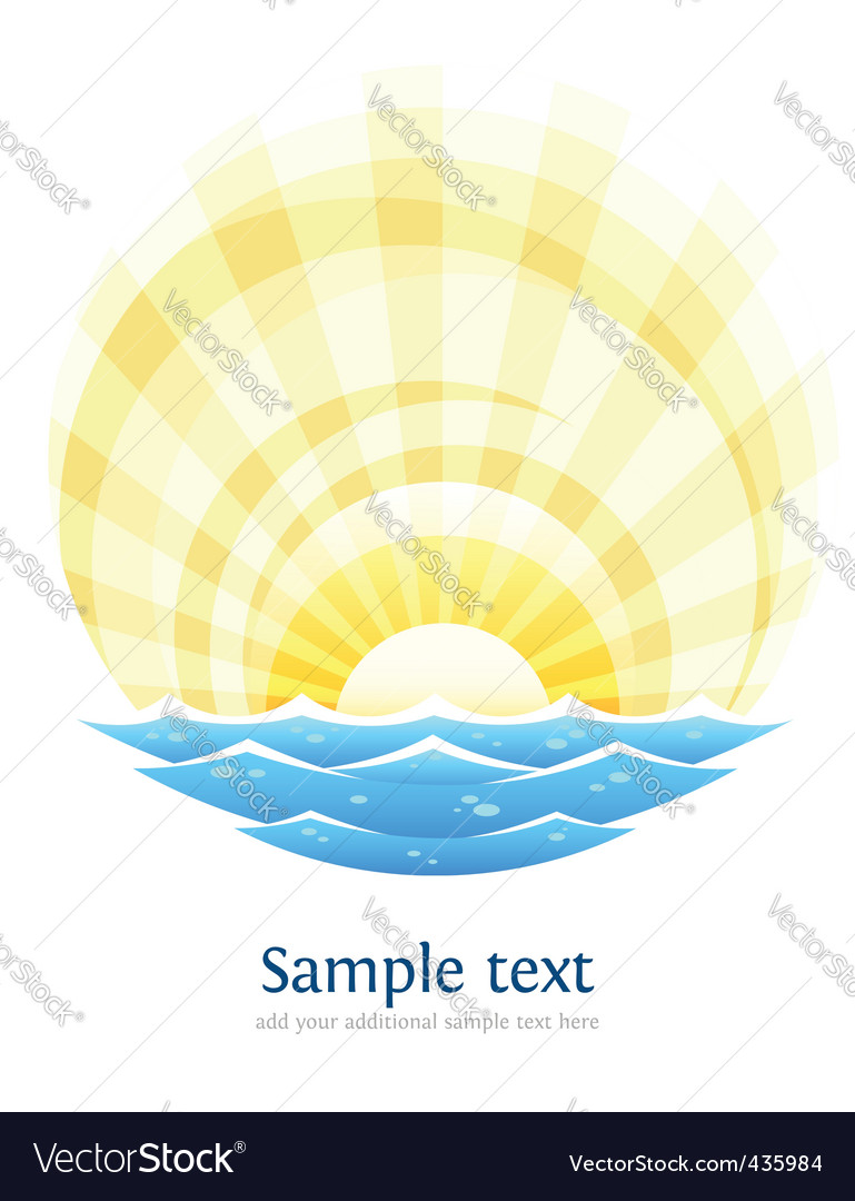 Landscape with sea vector image