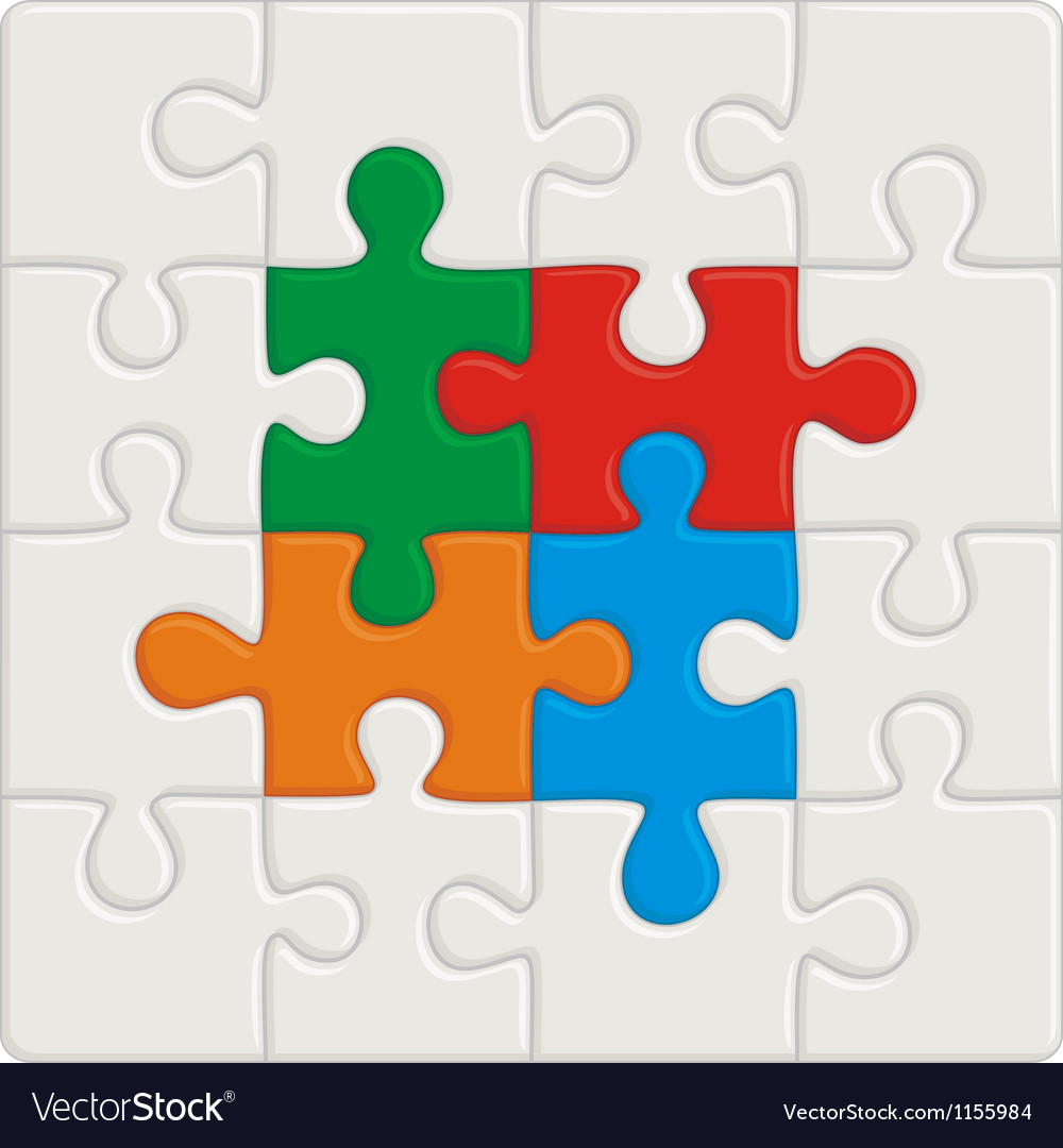 Many-colored puzzle pattern removable pieces