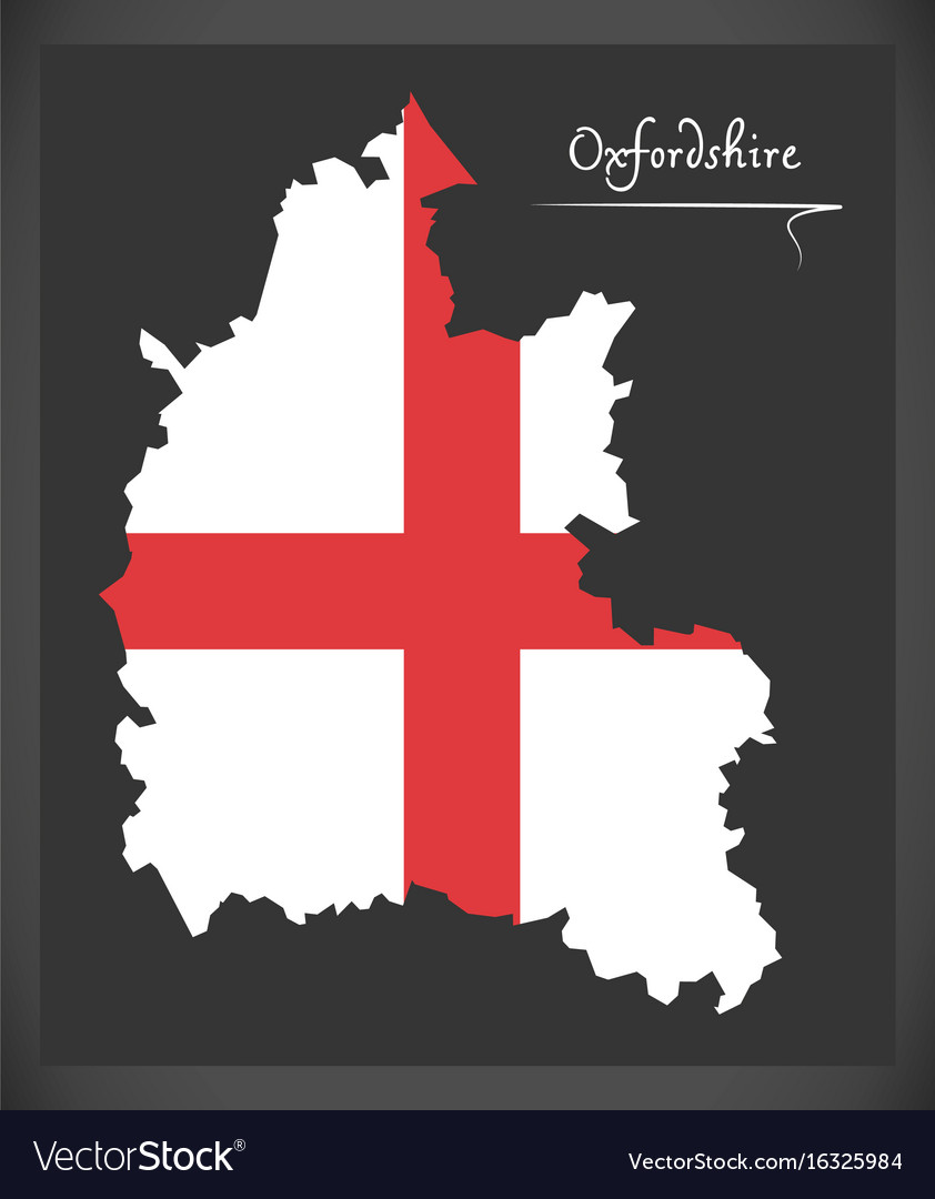 Oxfordshire Map England Uk With English National Vector Image