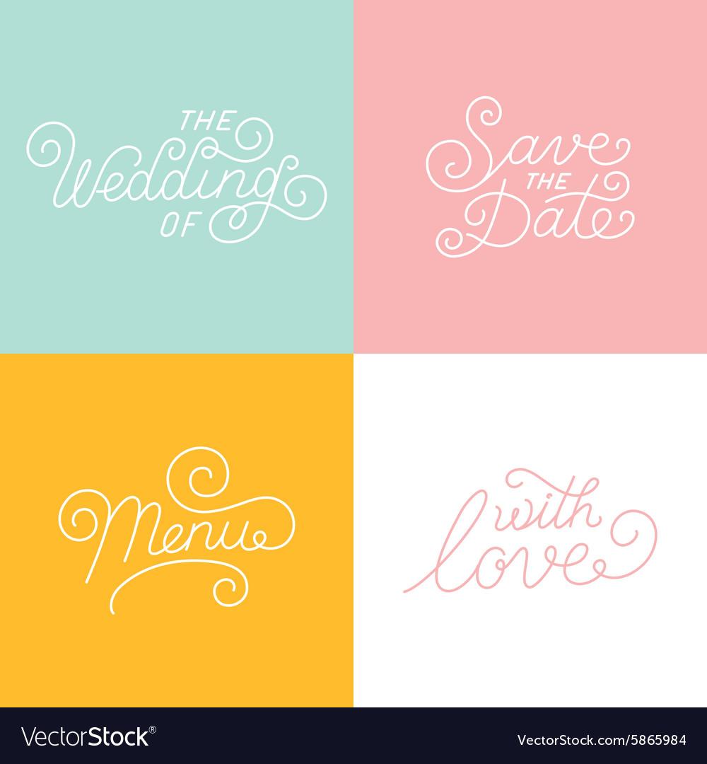 Wedding hand-lettering