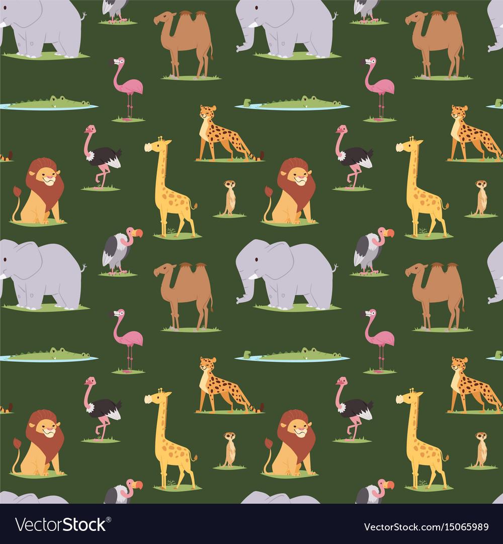 African wild animals outdoor graphic travel