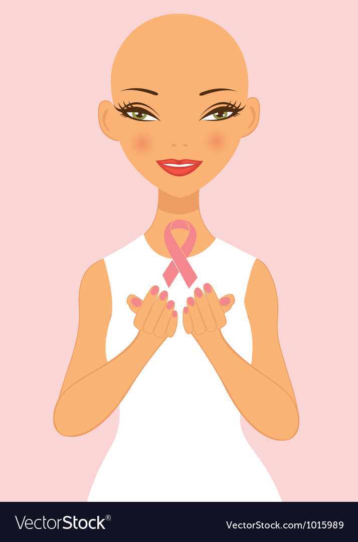 Breast cancer awareness lady vector image
