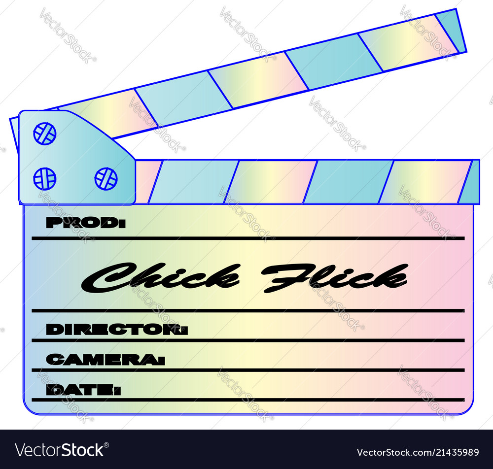 Chick flick pastels clapperboard
