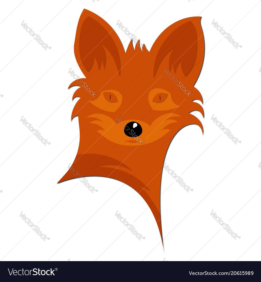 Fox logo design abstract red fox vector image