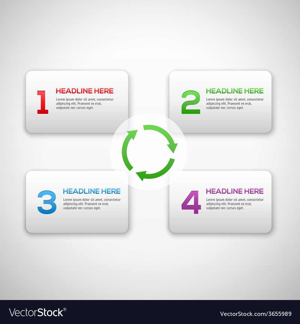 Infographics process template with set of numbers